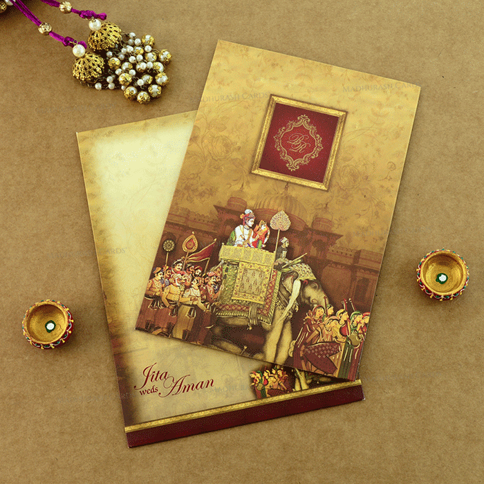 Hindu Wedding Cards - HWC-19222 - 2