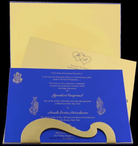 Hard Bound Wedding Cards - HBC-7005 - 4