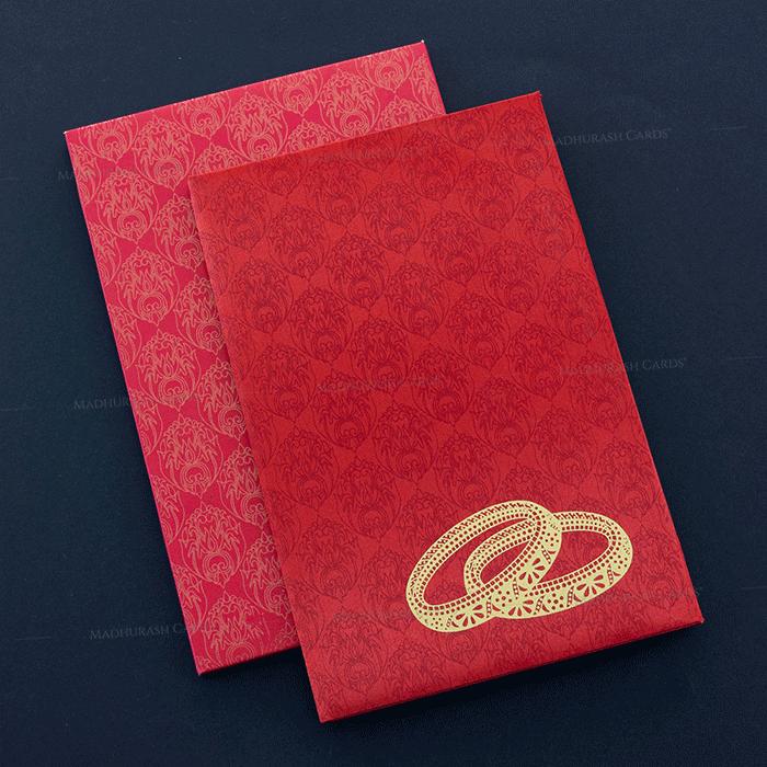 test Hard Bound Wedding Cards - HBC-7014