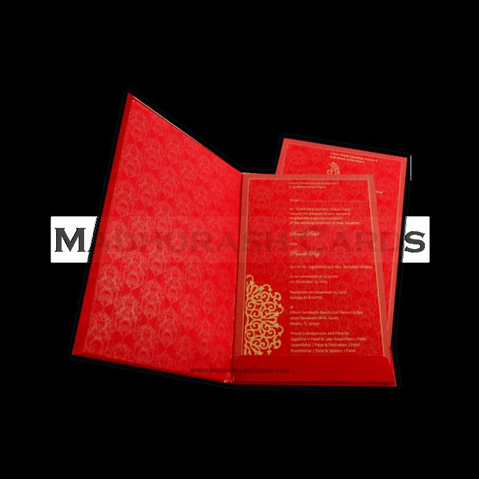 Hard Bound Wedding Cards - HBC-7014 - 5