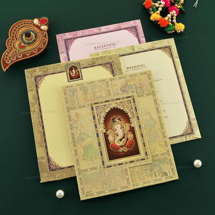 Designer Wedding Cards - DWC-19127 - 4