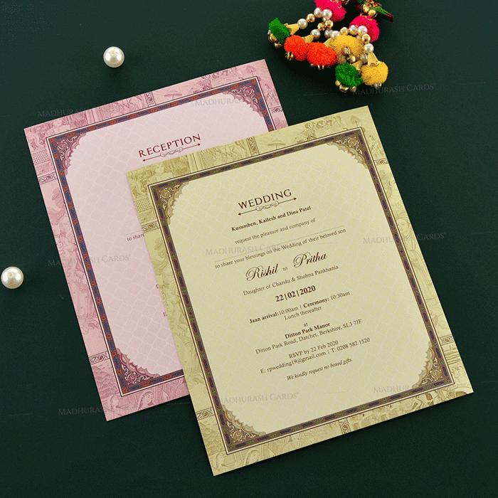 Designer Wedding Cards - DWC-19127 - 5