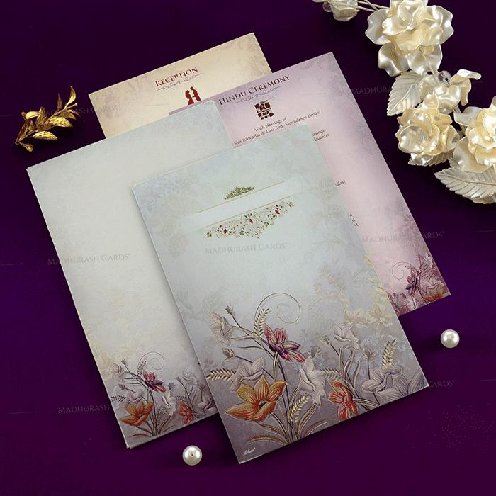 Hindu Wedding Cards - HWC-19148 - 4