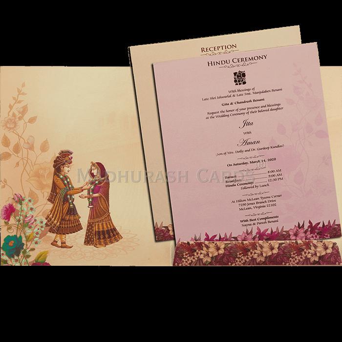 Hindu Wedding Cards - HWC-19149 - 4