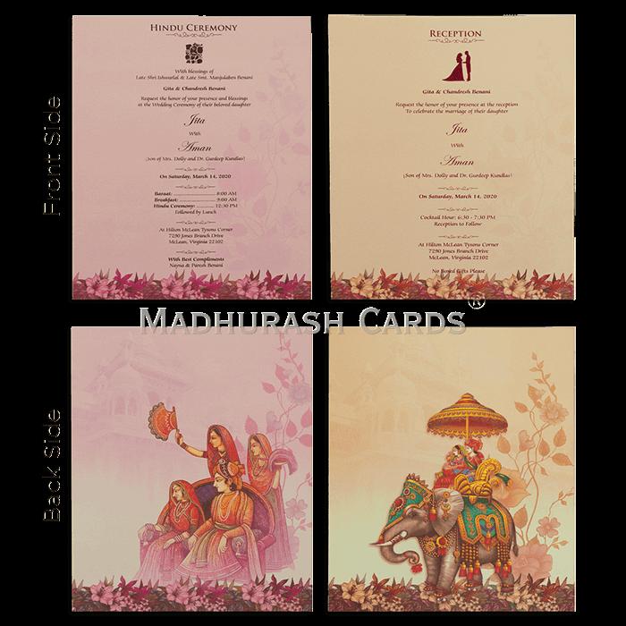 Hindu Wedding Cards - HWC-19149 - 5