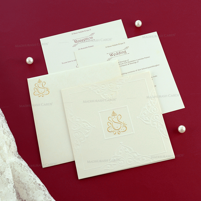 Hindu Wedding Cards - HWC-19162 - 4