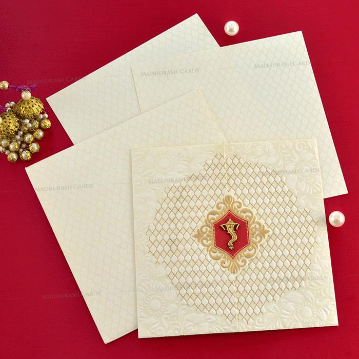 Hindu Wedding Cards - HWC-19196 - 4