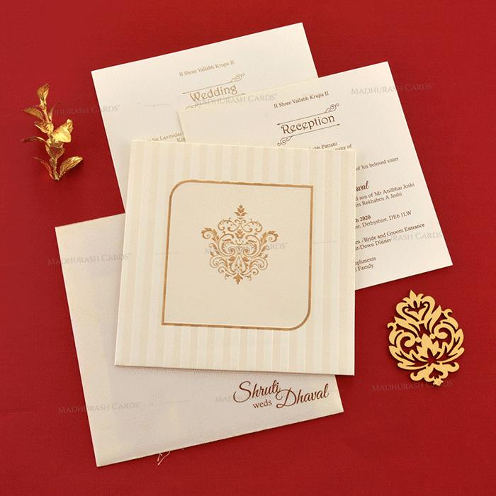 Designer Wedding Cards - DWC-19116 - 4