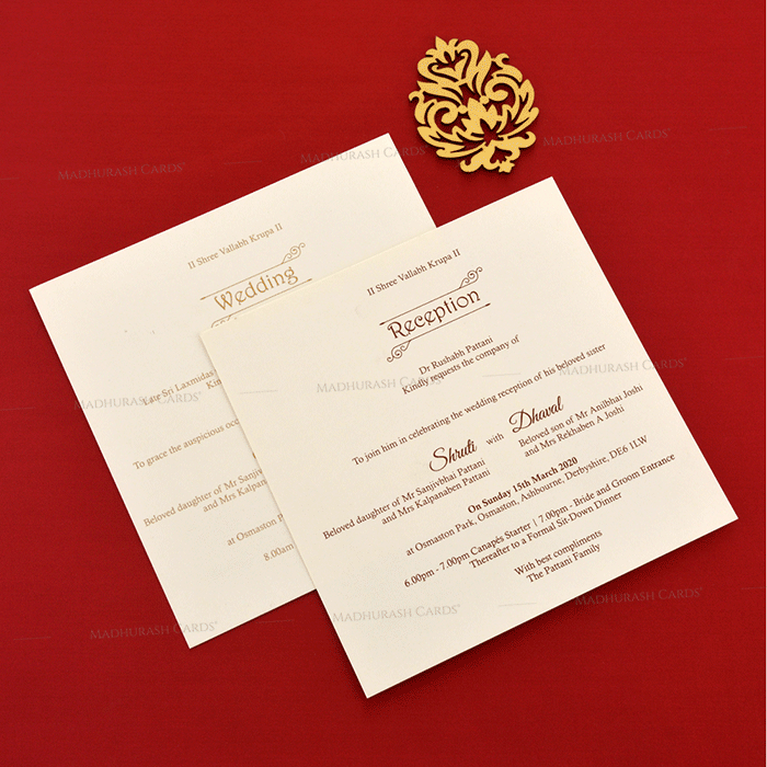 Designer Wedding Cards - DWC-19116 - 5