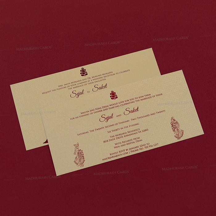 Hard Bound Wedding Cards - HBC-7048 - 4