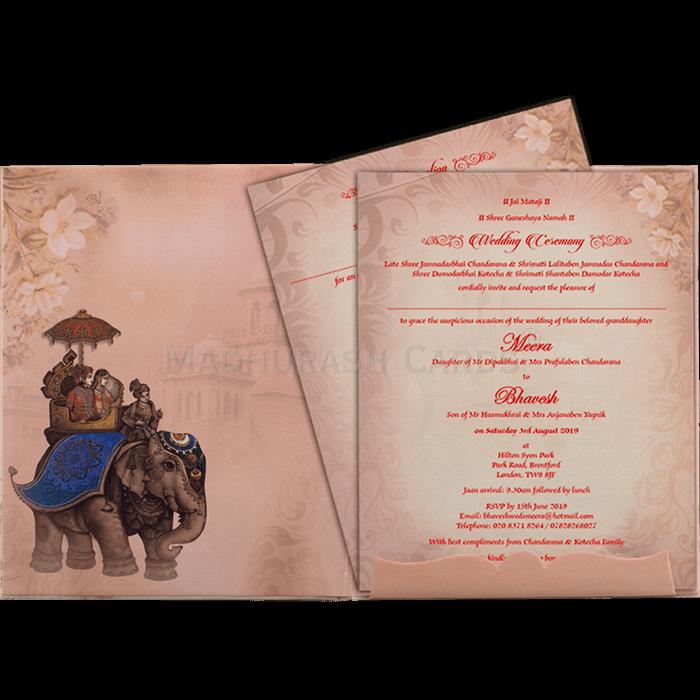 Hindu Wedding Cards - HWC-19064 - 4