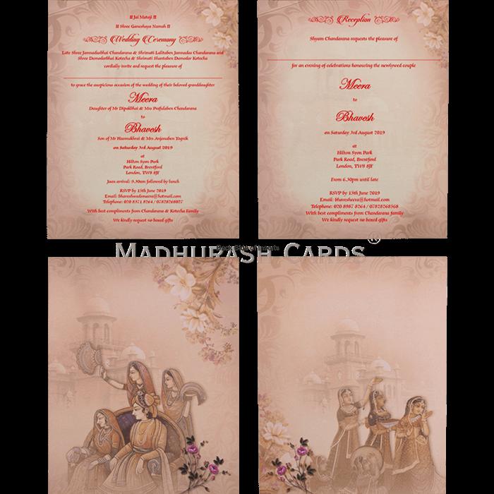 Hindu Wedding Cards - HWC-19064 - 5