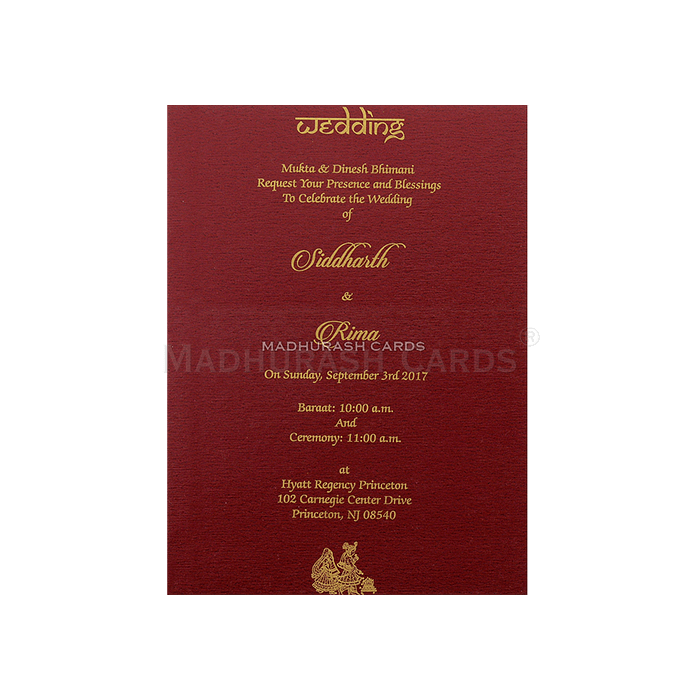 Hard Bound Wedding Cards - HBC-7054 - 5