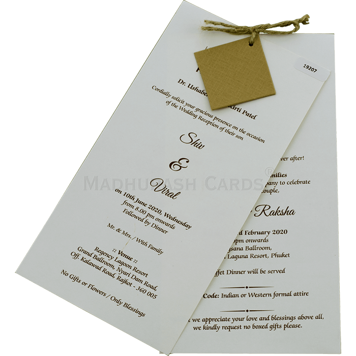 Designer Wedding Cards - DWC-19207 - 3