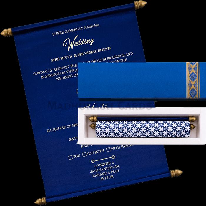 test Scroll Wedding Invitations - SC-19059