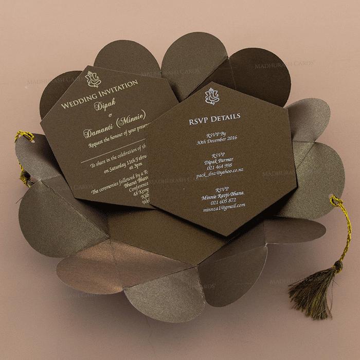Muslim Wedding Cards - MWC-7109 - 4