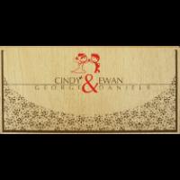 Wooden Wedding Invites - WWC-9201
