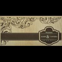 Wooden Wedding Invites - WWC-9202