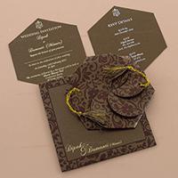 Hindu Wedding Cards - HWC-7109