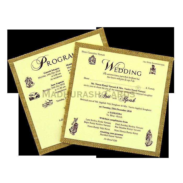 Kraft Wedding Invitations - KWC-9407 - 4