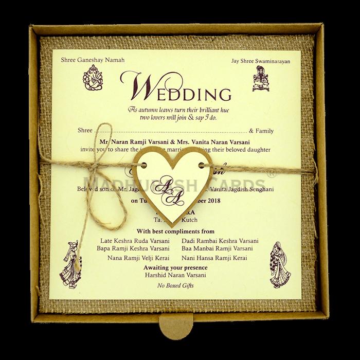 Kraft Wedding Invitations - KWC-9407 - 5