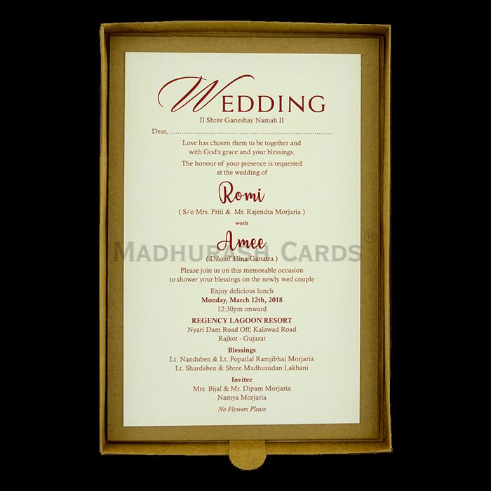Kraft Wedding Invitations - KWC-9426 - 5