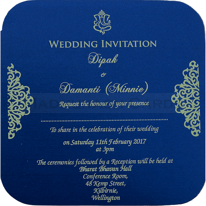 Hindu Wedding Cards - HWC-7110 - 5