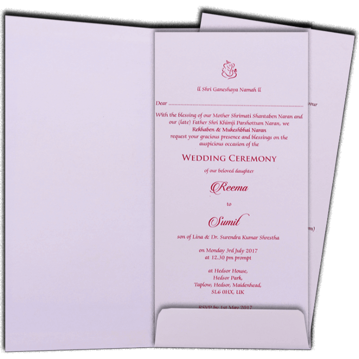 Hard Bound Wedding Cards - HBC-7078 - 3