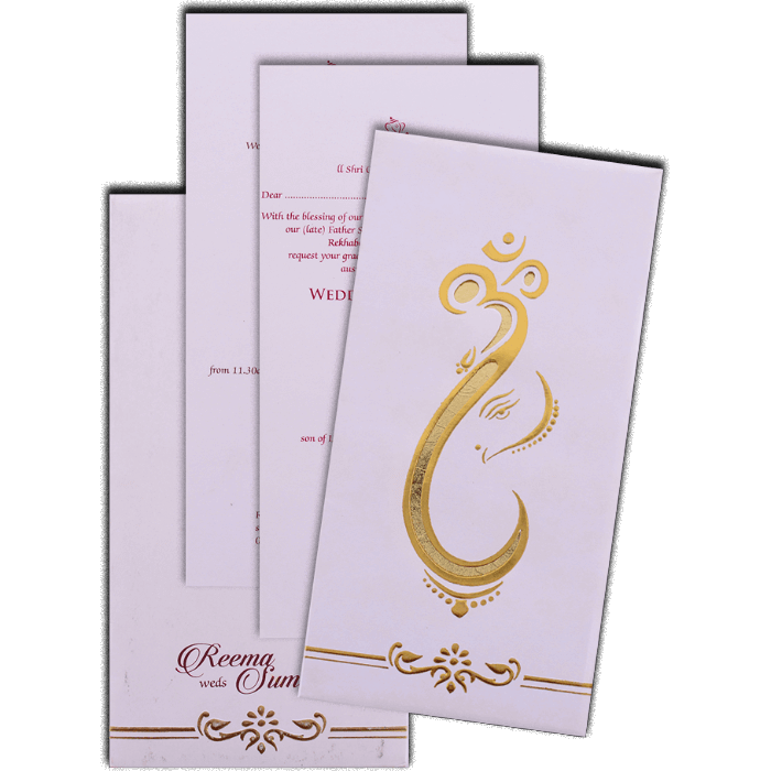 Hard Bound Wedding Cards - HBC-7078 - 5