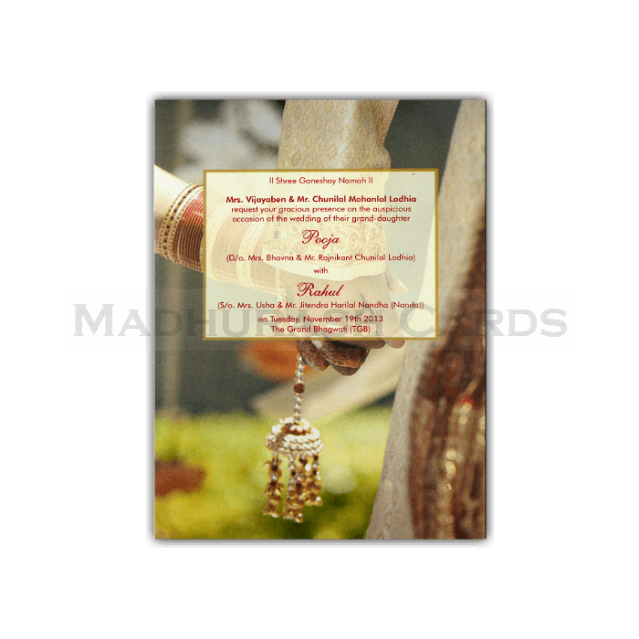 Hard Bound Wedding Cards - HBC-7440 - 4
