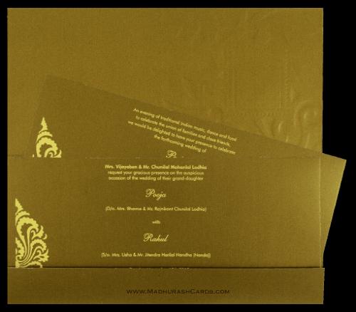 Hindu Wedding Cards - HWC-7548 - 4