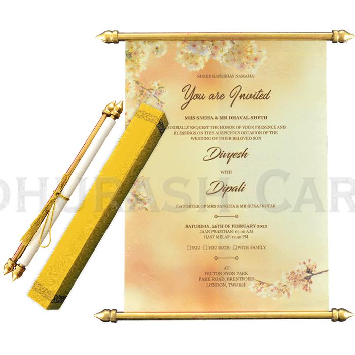test Scroll Wedding Invitations - SC-6065A