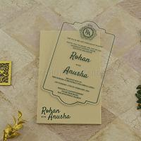 Acrylic Wedding Invites AWI-8919GR