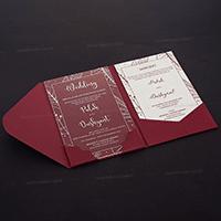 Luxury Wedding Cards - LWC-9414Red