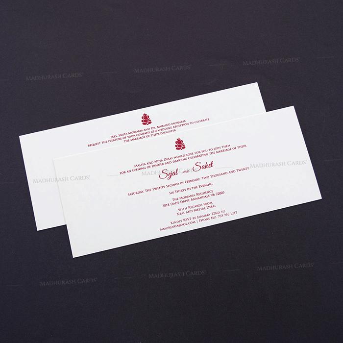 Hindu Wedding Cards - HWC-7606 - 4