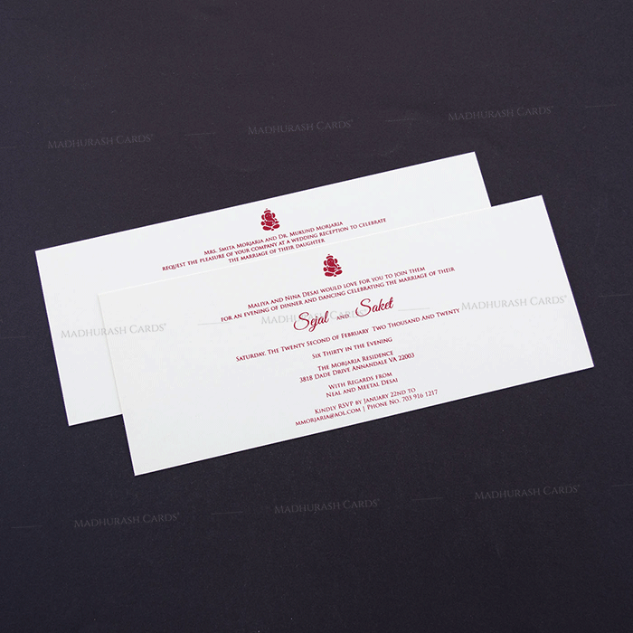 Designer Wedding Cards - DWC-7606 - 4