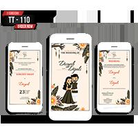 E Wedding Cards - EWC-TT110