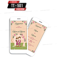 E Wedding Cards - EWC-TT501