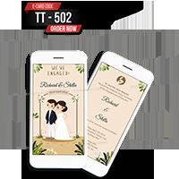 E Wedding Cards - EWC-TT502