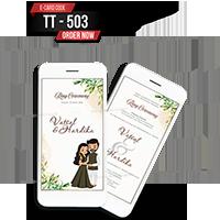 E Wedding Cards - EWC-TT503