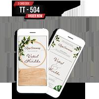 E Wedding Cards - EWC-TT504