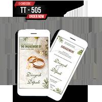E Wedding Cards - EWC-TT505