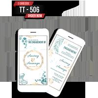 E Wedding Cards - EWC-TT506