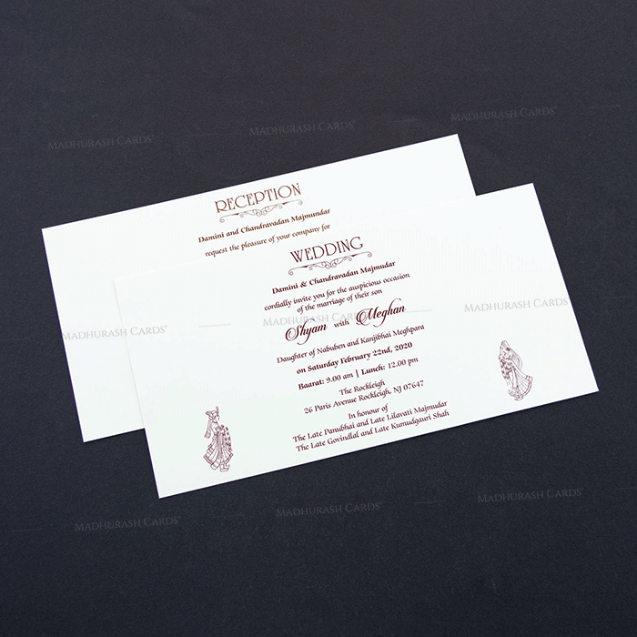 Hindu Wedding Cards - HWC-7607 - 4
