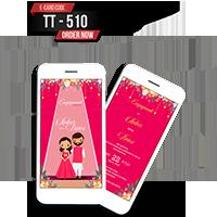 E Wedding Cards - EWC-TT510