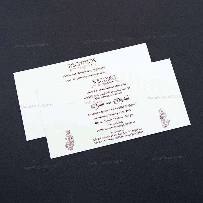 Designer Wedding Cards - DWC-7607 - 4
