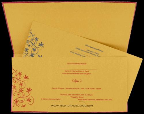 Hard Bound Wedding Cards - HBC-14107 - 4