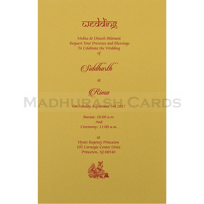 Hindu Wedding Cards - HWC-14127 - 5