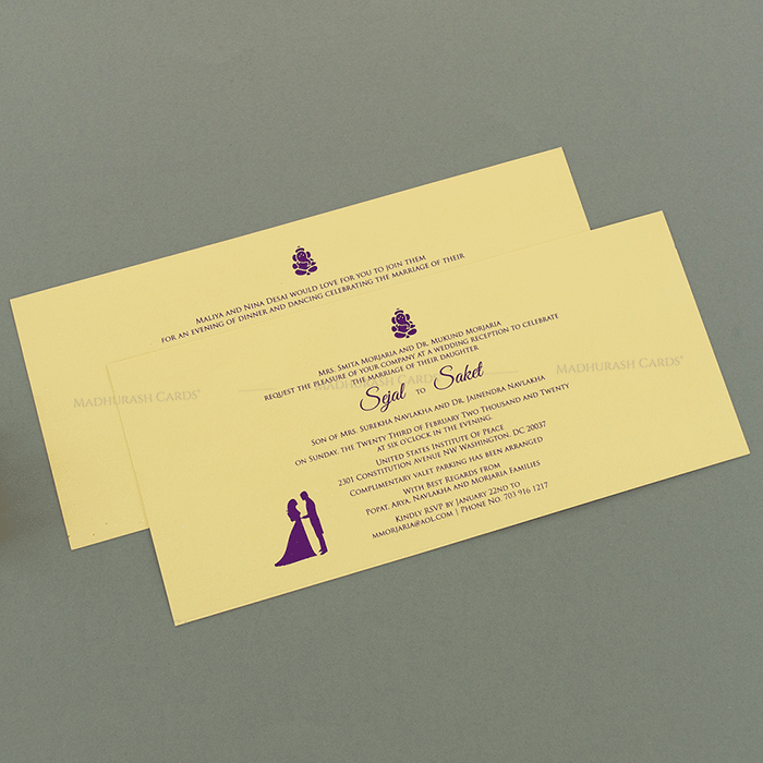 Hindu Wedding Cards - HWC-14152 - 4