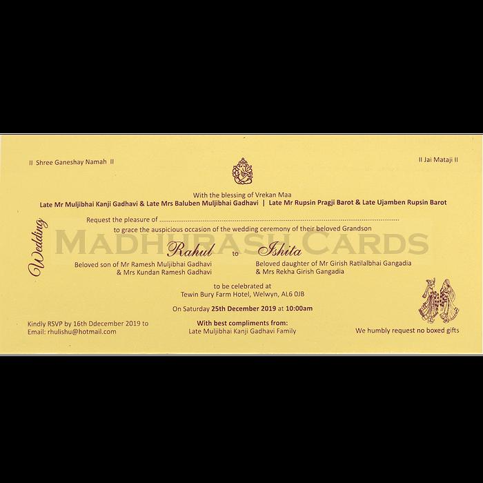 Hindu Wedding Cards - HWC-14152 - 5